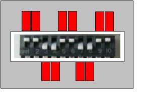 DIPスイッチの設定の検査にガバリ(テンプレート)を使用した例